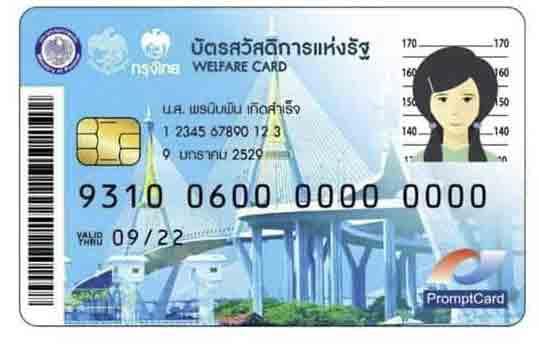 ลงทะเบียนบัตรสวัสดิการแห่งรัฐ หรือ บัตรคนจน