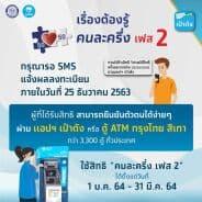 กรุงไทยเลื่อนส่ง sms ยืนยันสิทธิคนละครึ่ง
