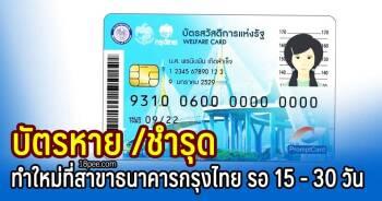วิธีทำบัตรใหม่ เมื่อทำบัตรสวัสดิการแห่งรัฐหาย ชำรุด