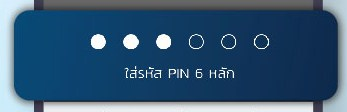 กดรหัส pin 6 หลัก (รหัสแอปเป๋าตัง)